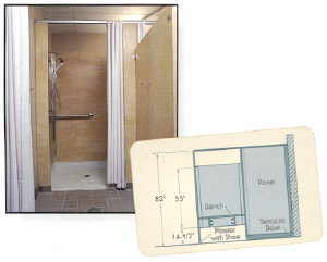 High Quality Santana Solid Plastic Shower Dividers