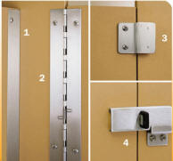 optional continuous hardware for bobrick restroom partitions - Bathroom Partition Hardware